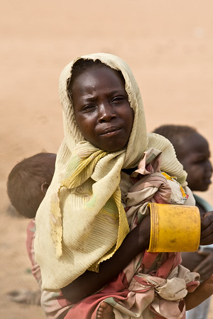 A young woman in Gereida, Sudan