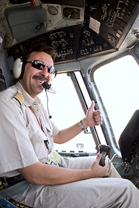 A World Food Programme helicopter pilot