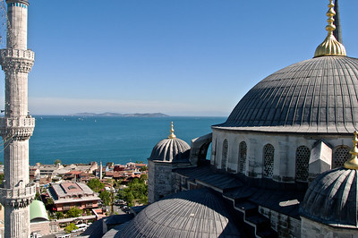 The Sultan Ahmed Mosque (Blue Mosque) in Istanbul, Turkey