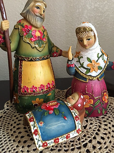 2016-12-18 – This is one of Lisa's nativity pieces in our home for Christmas. I believe we picked this one up in Ukraine.