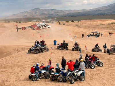 Riding ATVs in the Little Sahara Dunes can be dangerous. Accidents are common, but most are minor. This weekend was particularly bad. In only a few hours we witnessed four Life Flights, something I've never seen on the dunes before. Two riders were injured. Only one survived.