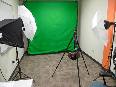 2011/12/5 – At work I've been setting up a small photo/video studio. It isn't very big, but much better than what we've had previously. The green screen is great for both video and photos, but it is primarily for some of the videos we produce, like Kirk's Tackle Shop, a video series I've been doing. The green screen is 10'X16' so we can really do some fun things with it.