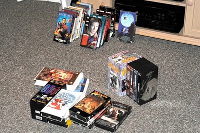 2011/12/3 – We continue to do some deep house cleaning, dumping things we don't need or will never use. This Saturday we did a little of that as we pulled about 35 VHS videos out. We are going to donate them to the assisted living center were Lisa's dad stays. They'll get plenty of use out of them.
