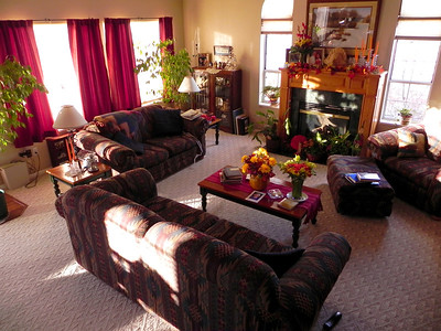2011/11/30 – I was walking down the stairs this morning to leave for work when the image of our main floor family room caught my attention. I loved the rich colors of the room as the early morning sun crept in through the windows. It made me want to just sit down and relax in the warm rays of the sun. I grabbed my  camera and got the picture before the sun rose higher and the light changed.