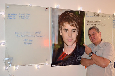 2011/12/14 – Funny guys! Some of the guys in my marketing department put this big poster in my office. What made it so funny was the fact that I was so focused on a project I didn't see it for the longest time. They kept coming in making Justin Bieber comments. Finally when there were four of them in my office all at the same time I looked up long enough to see the poster. They had a good laugh saying I knew it was there all along but just didn't want to let on that I was a big fan.