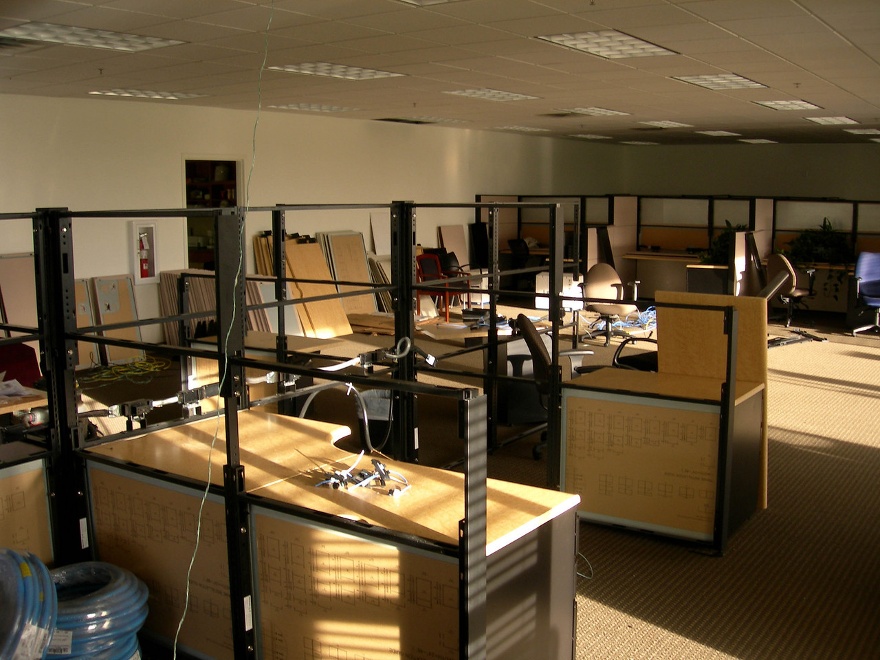 4/10/07 – I've been in our new office for over a week but just outside my office is still chaos. It will be another week before all the cubes are done and the rest of the employees move in.