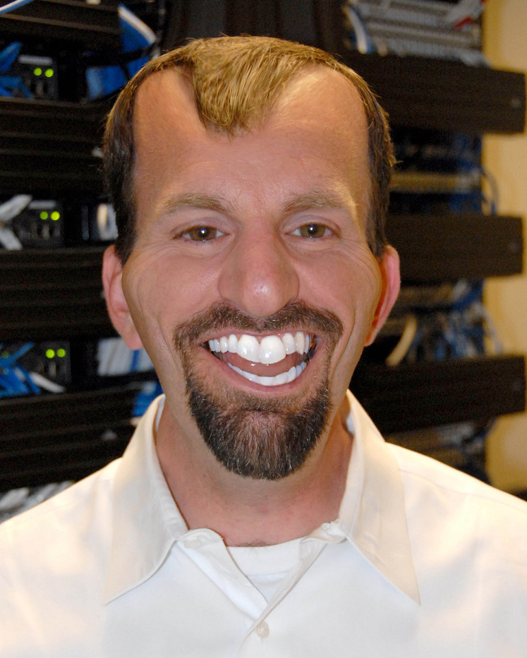 5/3/07 – This is Tim Brown our CTO at MSTAR. To be fair this is a photo caricature of Tim. I photographed him for a magazine article and took one of the bad photos and made substantial modifications in Photoshop. This is a face not even his mother could love.