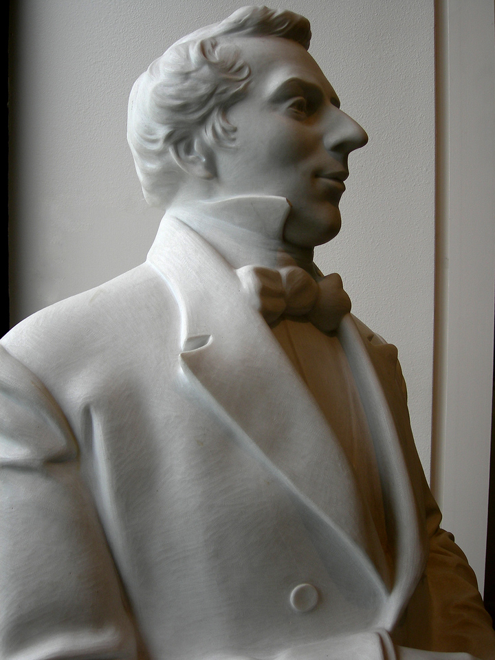 5/6/07 – My BYU ward had major boundary changes. We no longer meet in a regular chapel. We now meet in the Joseph Smith Memorial Building on campus. This statue of Joseph Smith is in the lobby of the building.