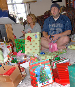 12/25/07 – photo 1of 6. There were too many fun photos for today so I'm posting six shots. This was Christmas morning. We stayed up so late Christmas Eve we didn't get up until after 10am.
