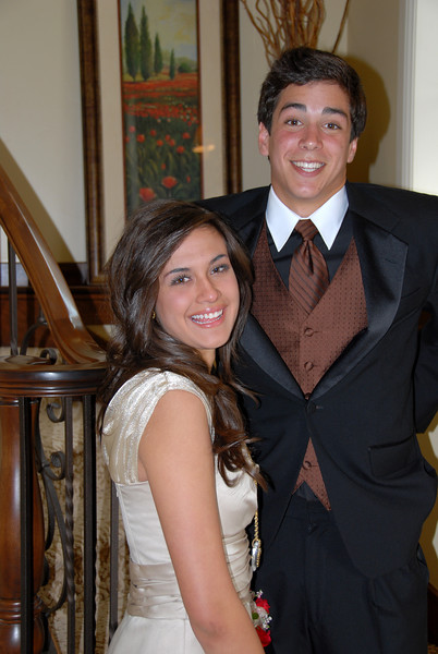 5/5/07 – Sean enjoyed his first date and the prom all at the same time. His date is Ashley. They made a great looking couple.