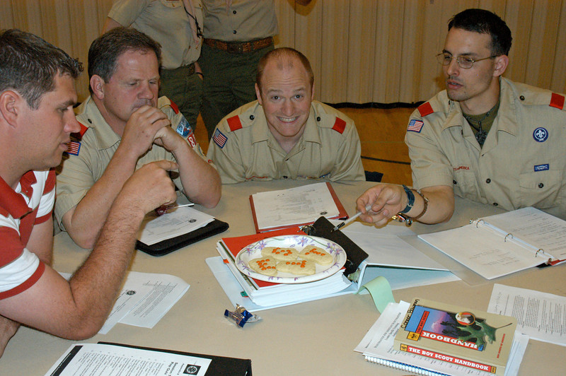 4/11/07 – I'm on the staff for District level BSA Leader Specific Training. Every six months we hold training three nights for three hours each night. This is a group of participants our first night.