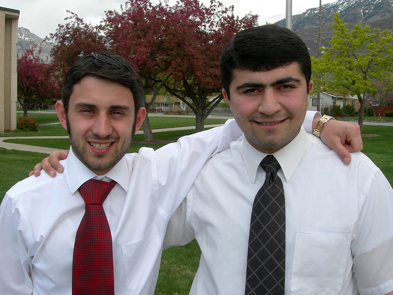 4/15/07 – This is Karen and Igor. Both are from Armenia. Both served their missions in Ukraine. Karen served with Logan in the Kiev mission and Igor in the Donetsk mission.