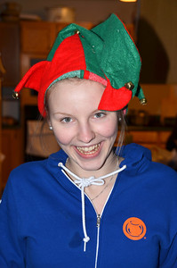 2012-12-11 ––– I came home and found this goofy elf roaming my home. Her name is Pilvi the Christmas Elf. She is from Finland. OK, she is actually Lisa's cousin here to spend the holidays with us.