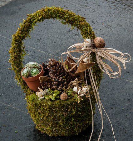 Large Moss Basket for Fall - the possibilities are endless!
