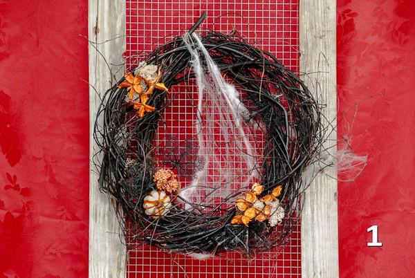 #1 -  Black birch twig round for Halloween!