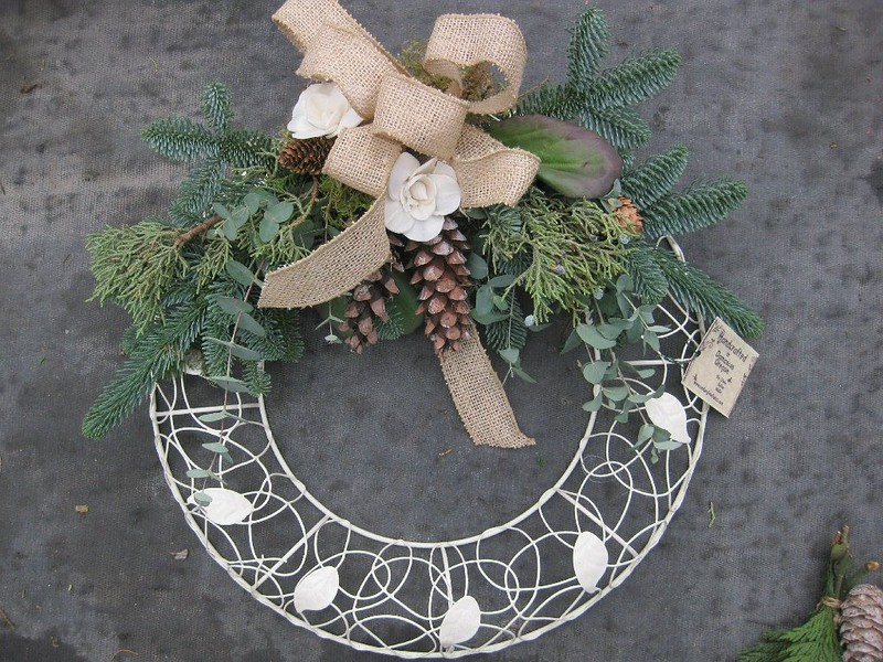 Wreath Shabby Chic White