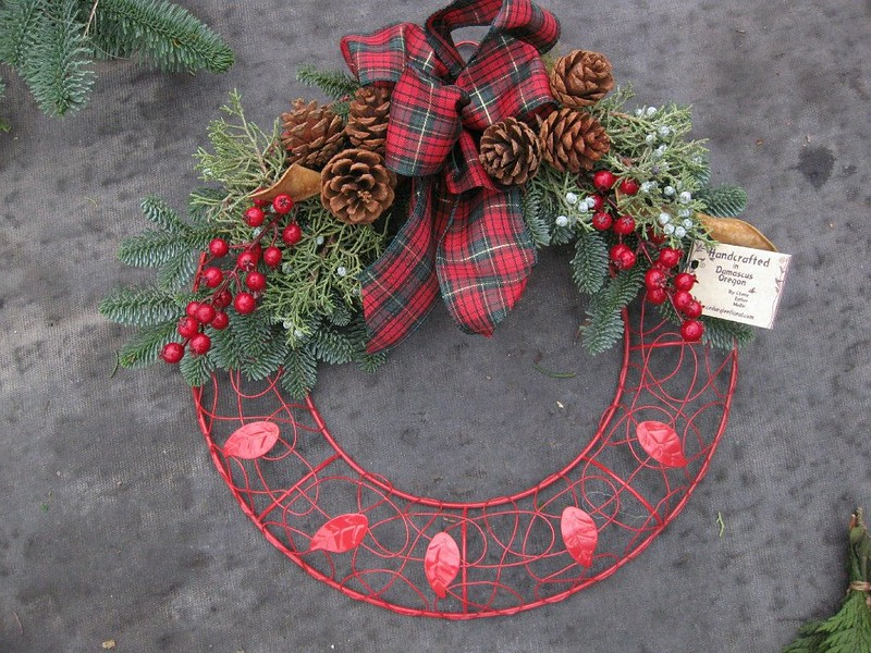 Wreath Shabby Chic Red