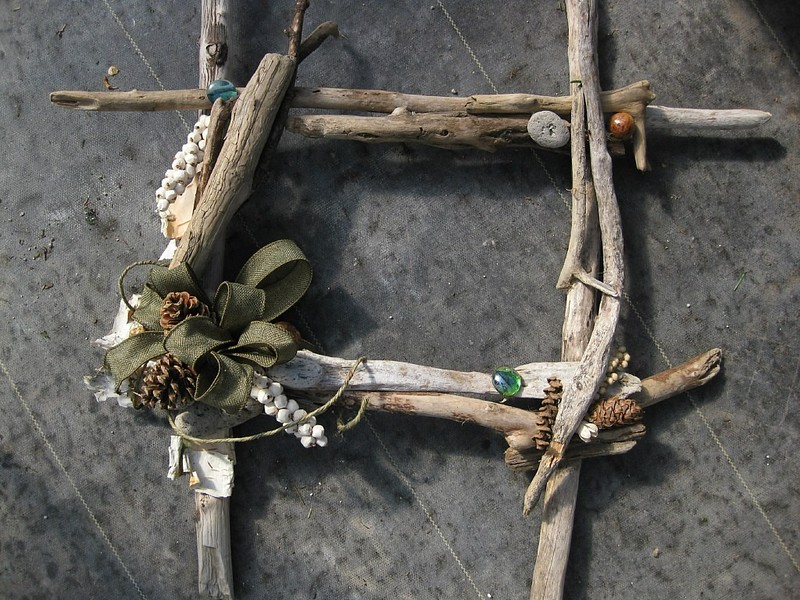 Square Driftwood Wreath