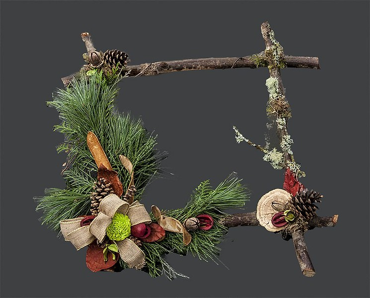 Wreath Twig Decorated
