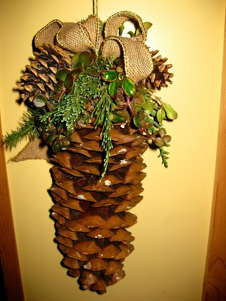 Decorated Sugar Pine Cones