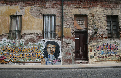 Graffiti tribute to Che Guevara