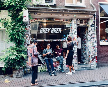 """One of the many """"coffeehouses"""" that sells all things cannibis — Grey Area Coffeeshop"""