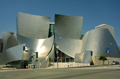 The Walt Disney Concert Hall in downtown L.A. was designed by architect Frank Gehry.   It opened on October 24, 2003 and is home to the Los Angeles Philharmonic.