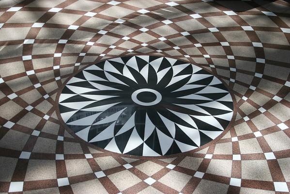 Floor art at the Thompson Center