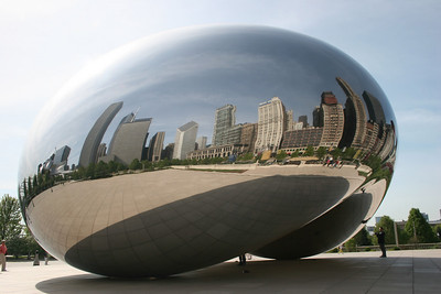 """Cloud Gate""...also called ""The Bean"""