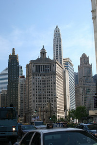 Looking south on the Magnificent Mile (Michigan Ave)