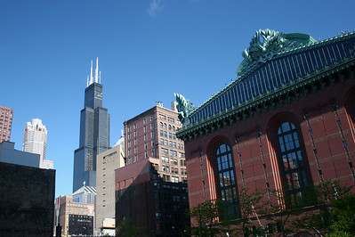 Sears Tower towering over the Library