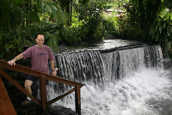 Tabacon Hot Springs, heated by the Arenal volcano