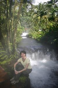 Beautiful waterfalls but very hot!