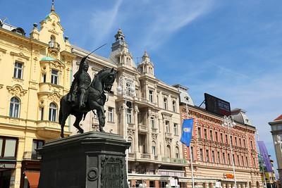 Zagreb's main square -  Trg  Ban Jelačić