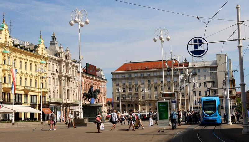 Trg  Ban Jelačić - Zagreb, Croatia