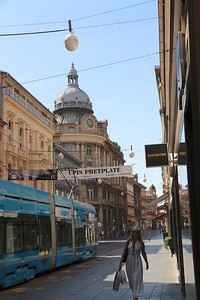 Ilica Street, a popular shopping street in Zagreb