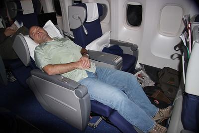 KLM business class.