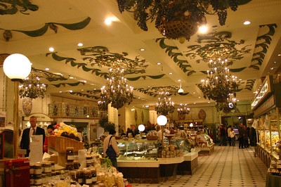 One of the many food markets at Harrod's