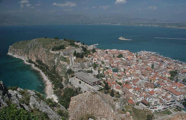 The lovely town of Nafplio on the Peloponnese Peninsula.