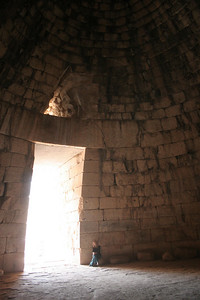 Inside the Treasury at Mycenae