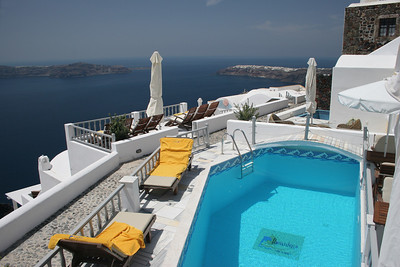 We stayed 4 glorious nights on the island of Santorini at the gorgeous Iliovasilema Hotel!