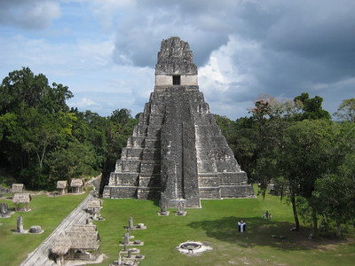 Temple I (also known as the Temple of the Great Jaguar) was built around 695AD