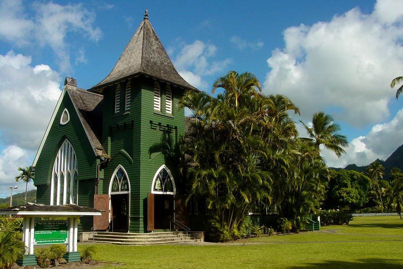 KAUAI Green church of United Church of Chirst, Hanalei