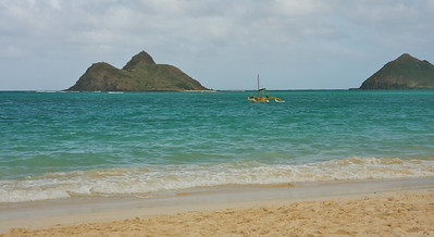 Lanikai Beach, Oahu and the Moku-lua Islands