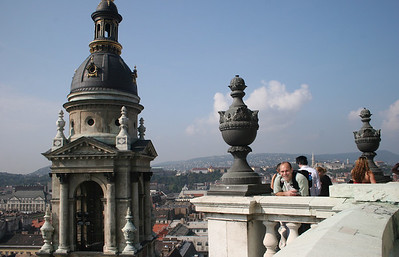Atop the dome of St. Stephen's Basilica