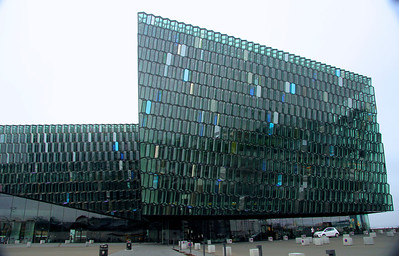 Harpa  -a concert hall and conference center, opened in 2011 Reykjavík