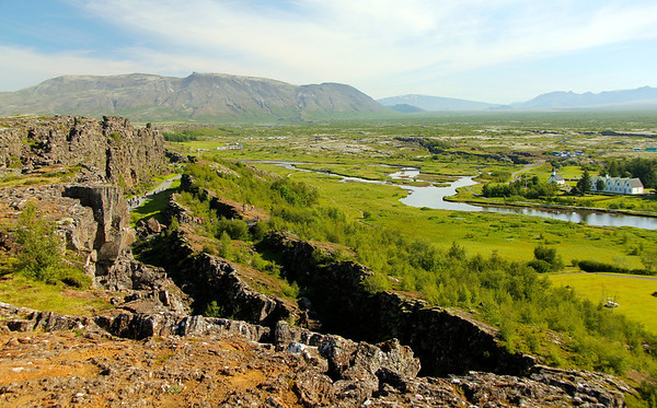 Þingvellir (Thingvellir) National Park -  The continental drift between the North American and Eurasian Plates can be clearly seen here in this rift valley.
