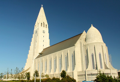 Hallgrímskirkja (literally, the church of Hallgrímur) is a Lutheran parish church in Reykjavík. The largest church in Iceland, construction work began in 1945 and ended in 1986.