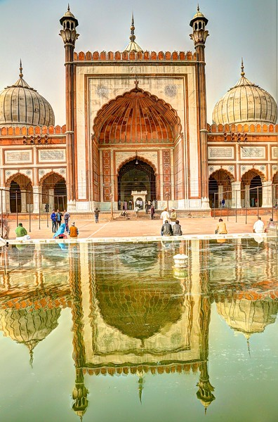 Reflecting pool at Jama Masjid Mosque
