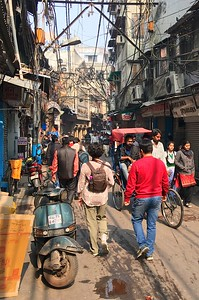 Strolling  Old Delhi